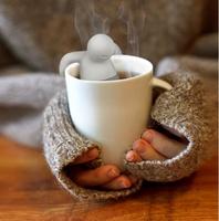 2014 Teapot cute Mr Tea Infuser/Tea Strainer/Coffee & Tea Sets/silicone fred mr tea