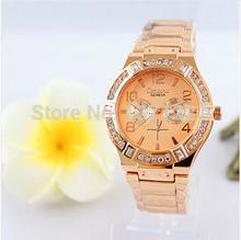 Marca moda de lujo del cuarzo de ginebra Crystal Rhinestone reloj de oro reloj reloj femenino reloj montre relogio feminino