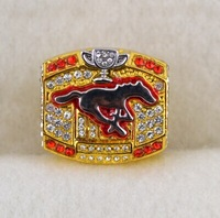 Free shipping !!sport jewelry 2008 96th grey cup football calgary champions Ring for men as party gift.