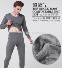Hot Men thick fleece thermal underwear sets men's thermal underwear sets wholesale warm jacket suit(China (Mainland))