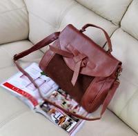 Single tie decoration handbag one shoulder cross-body bag messenger bag