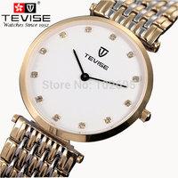 NEW TEVISE quartz  men's watches sapphire crystal ultrathin strip waterproof watch brand men's retro watch men Wristwatches