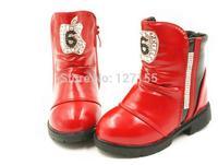 children fashion short warm boots, children's  2014 autumn winter cotton children's shoes