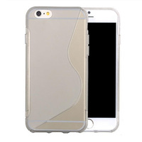 Fashion 10 Bright colors S style TPU case cover for iphone 6 4.7 Soft back cover phone cases for iphone6 10pcs
