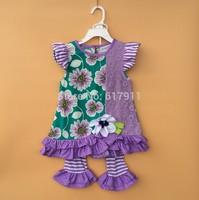 New 2014 summer baby girls clothing brand fashion kids clothing sets 2pcs rare editions flower girls sleeveless mini dress+pants