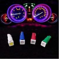Free shipping T5 5050SMD 1 LED Wedge Base Auto Car LED Bulb T5 Instrument Light Dashboard Lamp Light