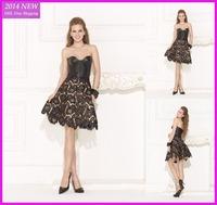 2015 Hot Sexy Lace Sweetheart Short Evening Dresses 2014 Off The Shoulder Vestido de formatura Tarik Ediz Dress 2015 WY-067