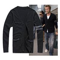 Spring and autumn slim men's thin knit Cardigan Sweater men's sweater coat