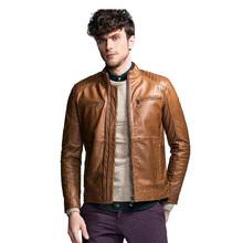 men's cowboy cowskin leather jacket(China (Mainland))