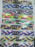 50Pcs/Lot Fashion Brand Polyester Weaving Headbands Sport Headwear Free Shipping