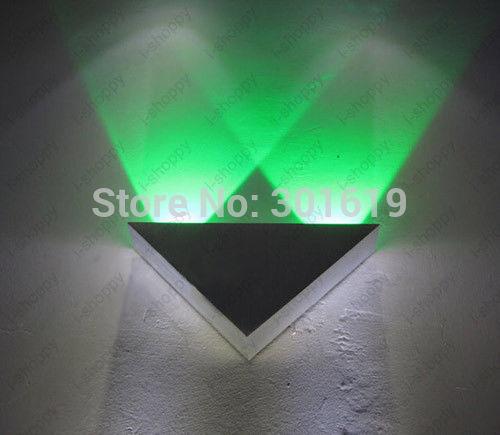 2 W triângulo LED arandela salão passagem teto decks luz dispositivo elétrico da lâmpada venda de natal(China (Mainland))
