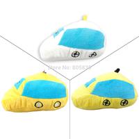 Plush Small  Car Shaped Dog Teething Aid  Dog Toy Pet  Chew Tug Toy Heavy Duty Yellow Orange White Length 12cm