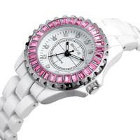 Design High Quality SKONE Brand Fashion Women Ceramic Watch Waterproof Quartz Watch Women'S Fashion Watch
