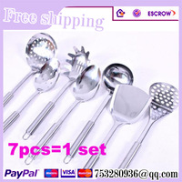 Free shipping kitchenware stainless Cooking tool  sets 7pcs a set
