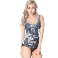 Piece Swimsuit Maillot De Bain Blackmilk High Quality Digital Printing Alien Pattern The Force Swimsuit One-piece Bathing Suit