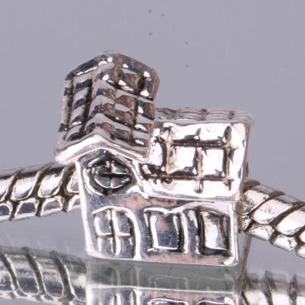 G010 925 sterling silver DIY Beads Charms fit Europe pandora Bracelets necklaces House fldaocka hlvaqdca