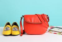 Clamshell dual-level small women messenger bag shoulder bag women bags women bag leather handbags