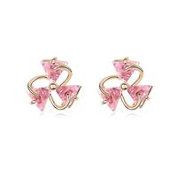 new brand design fashion woman Bestsellers sweet clover earrings 18K gold triangle CZ earrings 95334