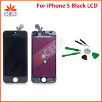 LCD Display & Touch Digitizer Complete Screen with Frame tools Full Assembly Replacement for iPhone 5 5G Black Color