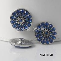 10pcs/lot STOCK women Button Interchangeable DIY Rhinestone Snap Button Jewelry Fit Ginger Snaps Jewelry NAC0190