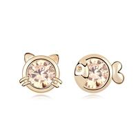 new brand design woman fashion 18K gold earrings Bestsellers fish playful cat scratch CZ earrings 95316
