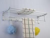 Bathroom folding towel rack,space aluminum bathroom accessories set shelf thickening