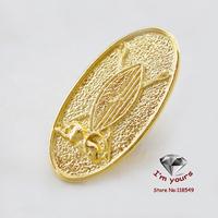 18K Golden Plated Uganda's king mark shields the lion brooch 3pcs/lot