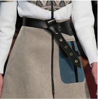 2014 new wild knotted leather belt women girdle belt