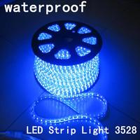 5pcs/lot 5M Christmas Waterproof 3528 RGB LED Strip Light 24/44key RGB Remote Control + 12V 2A Power Supply(EU/US/AU plug)