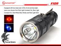 Sunwayman F10R 290 Lumens Tricolored-Light-Source Powerful Flashlight Cr123A