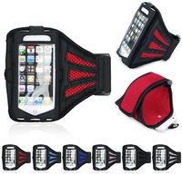 "100pcs/lot Neoprene Mesh Sport Gym Running Armband Arm Belt Soft Case Bag Holder  for iPhone 6 6G 4.7"" Samsung Galaxy S4 S5"