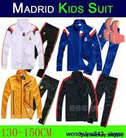 Winter Jacket Kids Tracksuit Coat Pant Suit Thai Kit Long Sleeve Real Madrid Chelsea 14 15 2015 Soccer Jersey Borussia Dortmund