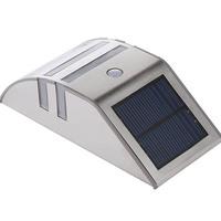 1pcs/lot Day white/Warm white Stainless Steel Motion Sensor LED solar Light Garden Wall Path PIR Lamp outdoor luminaria