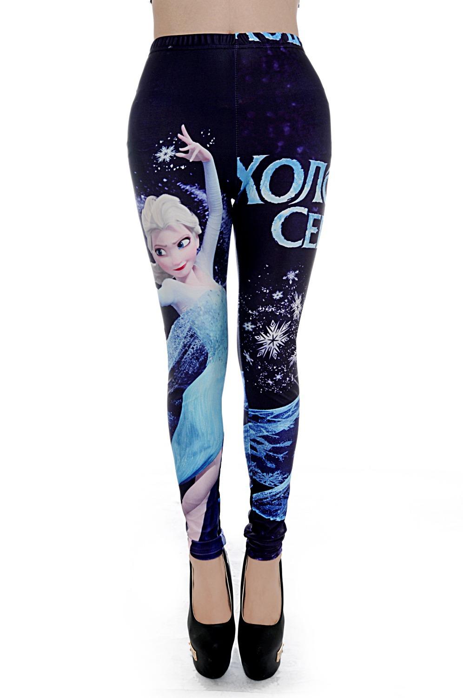 Принт леггинсы цифровая печать уникальный Galaxy брюки морозный узор леггинсы мэджик показать Deporte Mujer