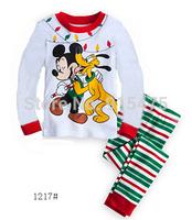 2015 New Arrival Mickey & dog Pajamas 100% Cotton Baby Pijamas Kids sleepwear clothing Boys Pyjamas Children's wear 6set/lot