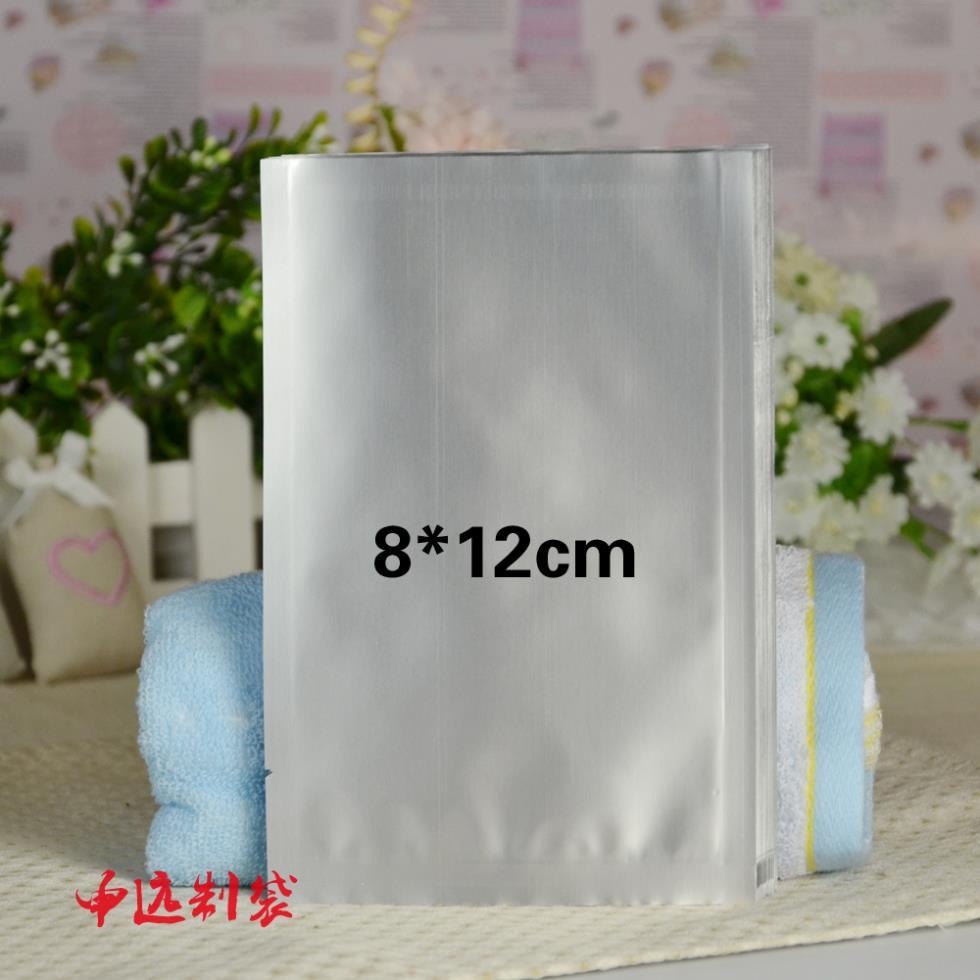 8 * 12cm pure aluminum foil bag packaging vacuum bag Powder bags cooked food bags(China (Mainland))
