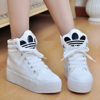 HOT SALE 2014   White Woman autumn winter shoes sneakers shoes muffin heavy-bottomed female Korean tidal shoes