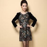 New Fall Winter Long Sleeve Black Casual Evening Party Vestidos femininos Women Dress