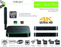 MINIX NEO X8H Plus Player Amlogic S812 Quad Core 2G/16G 4K Android Kitkat 4.4 Smart TV Box Dual WiFi XBMC TV BOX+ Remote control