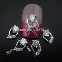 50pcs Glitter nail art Zircon 3d nail jewelry DIY styling tools scrapbooking charms supplies MNS781