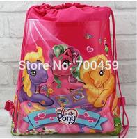 Wholesale 24 pcs My little pony New Pattern Cartoon Printing Drawstring Backpack Kids School Shoulder Bag Shopping Bag