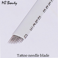 12pins Manual tattoo pen's needle blade cheap tattoo needles free shipping permanent eyebrow pen needle free shipping