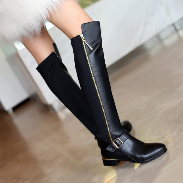 wholesale real rabbit fur over knee long wedge bootswomen. Black Bedroom Furniture Sets. Home Design Ideas