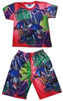 New pajamas sets boys girls Clothing Set kid's Cartoon the transformers summer Printing children t shirts+pants sleepwear
