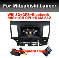 "8"" HD Touch Screen Car DVD Player for Mitsubishi Lancer 10 9 Wifi 3G CPU1GB RAM512M Bluetooth Radio TV USB SD IPOD Free Camera"
