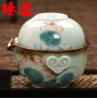 Free Shipment Teaset Cup *4pcs Celadon  Sleeping Lotus Type