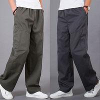 2014 New Fashion Winter Autumn Men's Cargo Pants Men Plus Size Fat Casual Cotton Sports Trousers joggers pantalones hombre L-6XL