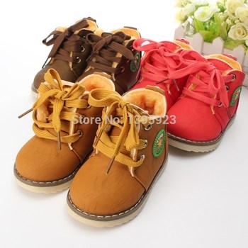 2014 новый детские сапоги / теплые сапоги для мальчиков и девочек / дети плюшевые шить хлопок сапоги размер 21-26 бесплатная доставка