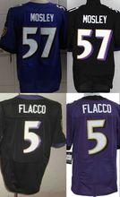 Free Shipping American Football Jerseys Elite Ravens Jersey 57 C.J Mosley Jersey 5 Joe Flacco Authentic Stitched Jersey
