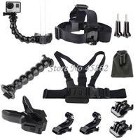 Gopro accessories  Jaw Flex Clamp/Gooseneck Arm/Head/Chest Mount for GoPro HD Hero 4/3+/3/2